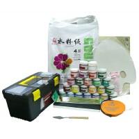 新品马利牌1100水粉颜料10件套装 水粉颜料+工具箱+画笔+调色盒