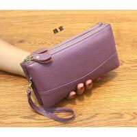 新款欧美手拿包女式双层大容量中年小手包潮流时尚零钱手机包