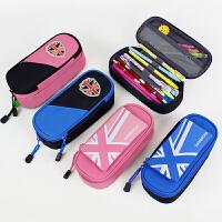kocotree小学生笔袋男女童大容量儿童文具盒笔袋分层简约笔袋