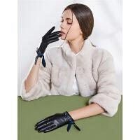 手套女士秋冬季保暖骑行摩托开车触屏防寒