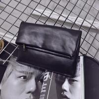 男士手包韩版男式手包 男士手抓包潮流休闲折叠手拿包 商务文件手包手机包
