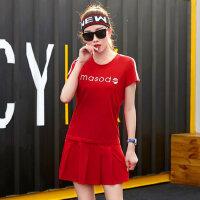 休闲套装短裙短袖T恤两件套大码运动服跑步女装