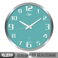 北欧钟表时钟挂钟创意客厅大气现代简约卧室石英钟静音个性电波钟