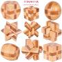木制儿童益智玩具孔明锁鲁班锁圆球锁正方锁十四体混百变拼搭玩具