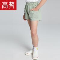 【儿童节大促-快抢券】高梵 时尚休闲女童短裤 2018新款纯棉运动宽松儿童裤子薄款潮