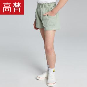 【618大促-每满100减50】高梵 时尚休闲女童短裤 2018新款纯棉运动宽松儿童裤子薄款潮