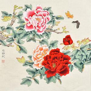 当代花鸟画家  唐晓静花鸟画gh02772