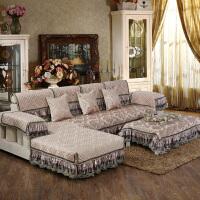 欧式沙发垫奢华防滑真皮沙发坐垫布艺四季客厅组合贵妃套坐巾