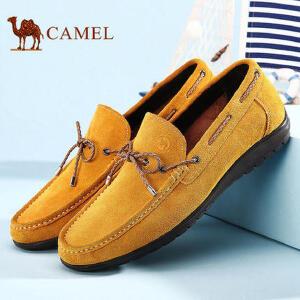 骆驼牌 春季新款英伦潮流日常休闲男皮鞋 套脚 耐磨
