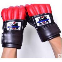 时尚大方拼接训练手套男女沙袋拳套格斗搏击训练成人款半指拳击手套