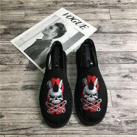 老北京布鞋男士社会豆豆鞋休闲帆布鞋一脚蹬精神小伙鞋子韩版潮流