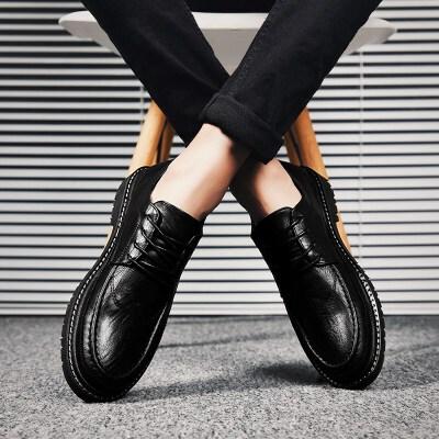 【夏季特惠】夏季时尚男士休闲皮鞋男韩版商务正装男鞋夏季2019新款百搭英伦鞋子男潮鞋