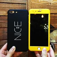 【支持礼品卡】Nice笑脸字母苹果7磨砂壳iphone6s情侣手机壳6plus前后全包防摔7p