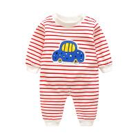婴儿衣服长袖秋装新生儿连体衣秋季男女宝宝哈衣纯棉婴幼儿爬爬服