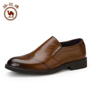 骆驼牌 新款商务皮鞋 男英伦尖头青年皮鞋子男潮鞋休闲皮鞋