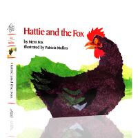 进口英文原版绘本 Hattie and the Fox 海蒂和狐狸 纸板书 廖彩杏书单 儿童图画书