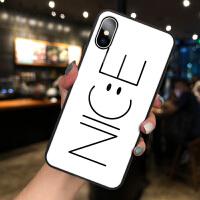 苹果X手机壳iPhone8plus玻璃7plus个性创意XSMAX网红女款XR同款ins潮XS情侣款