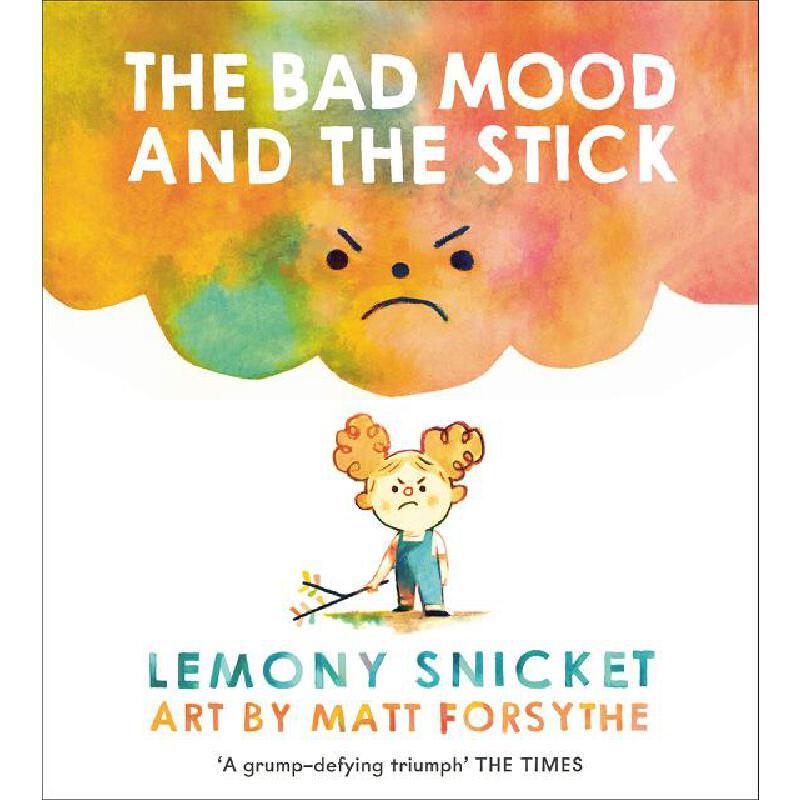 英文原版 小卷毛的坏心情 雷蒙·斯尼奇 Matthew Forsythe插画 儿童情绪管理绘本 The Bad Mood and the Stick