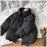 羽绒女短款2018新款冬季韩版学生宽松加厚棉衣面包服蓬蓬外套 黑色 S