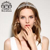 皇家莎莎新娘头饰大皇冠结婚婚纱礼服仿水晶饰品巴洛克女王发饰品