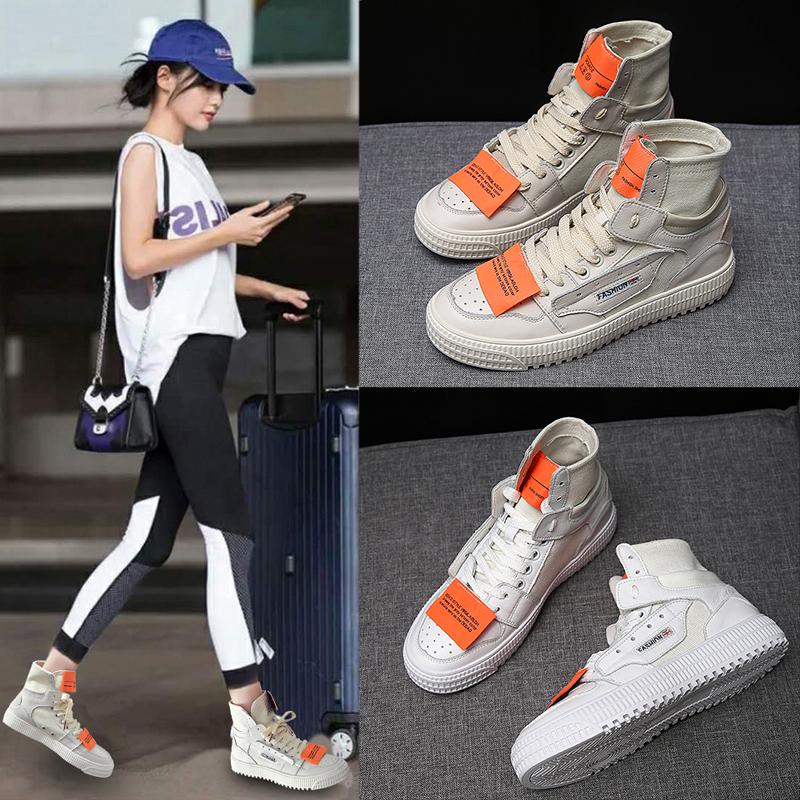 女鞋高帮女鞋休闲运动鞋女板鞋韩版帆布中跟女潮鞋流行女鞋