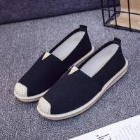 春夏老北京布鞋女学生韩版帆布鞋透气休闲鞋子女一脚蹬懒人单鞋