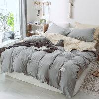 四件套全棉纯棉水洗棉网红款夏季欧式三件套女简约北欧风床上用品