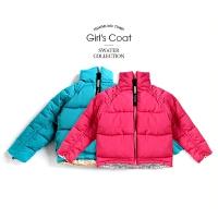 女童棉衣冬装童装女孩中大童外套儿童短款棉袄