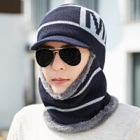 毛线帽男士潮冬季保暖户外棉帽骑行骑电瓶车针织帽子冬天