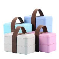 学生日式便当盒微波炉饭盒3三层4双层2密封分格餐盒