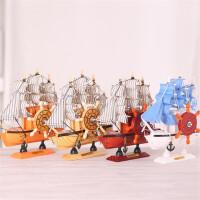 木质工艺品摆件 玩具模型 地中海风格音乐盒 创意小礼品音乐帆船 八音盒 生日礼物 颜色随机