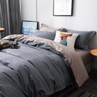 ins北欧风床上四件套棉纯棉1.8米床200x230双人床单被套三件套