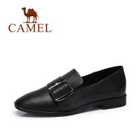 camel骆驼女鞋 春夏新款 通勤简约皮带扣柔软鞋低跟单鞋