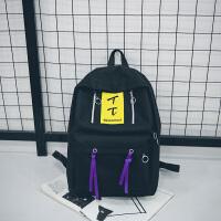 时尚潮流双肩包ins韩版校园高中学生书包女休闲旅行背包电脑包男