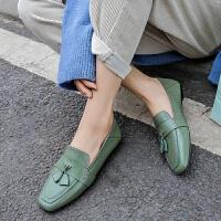 品牌夏季单鞋女2019新款流苏低帮套脚平底四季女鞋子时尚舒适开车鞋