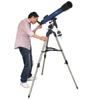 博冠天罡80/900L 80EQ折射式入门天文望远镜 不绣钢脚架高端稳定摄影镜正像观天观景天地两用