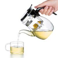 尚明飘逸杯茶道杯耐热玻璃茶具 高硼硅可拆洗过滤玻璃泡茶壶玲珑杯