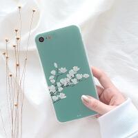 苹果iphone6s手机壳小清新女款个性梅花7plus全白边浮雕挂绳