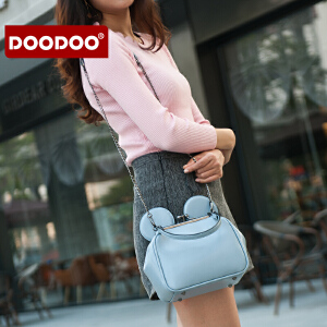 【支持礼品卡】DOODOO 链条小包包2017新款女包斜挎包百搭小猫包韩版个性单肩包潮 D6125