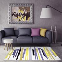 北欧地毯客厅简约现代沙发茶几地毯宜家几何长方形卧室床边毯
