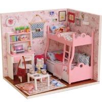 公主小房子拼装模型女生玩具创意生日礼物diy小屋小木屋手工制作