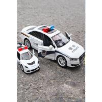 儿童玩具车模型仿真男孩警察车消防车警车玩具回力合金小汽车小车