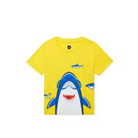 【折后叠券预估价:36】361儿童夏季卡通男童童趣休闲男小童短袖针织衫N52024204