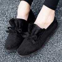 女鞋秋季新款妈妈鞋单鞋软底防滑豆豆鞋老北京舒适布鞋工作鞋
