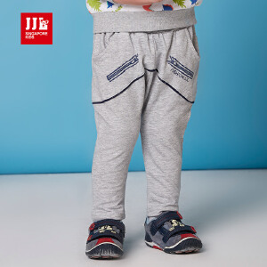 jjlkids季季乐童装春季男童针织裤新品纯色纯棉儿童休闲裤PBCK61057