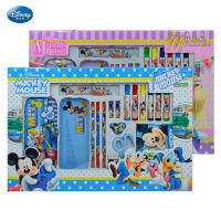 【包邮】热销学生文具套装迪士尼米奇奖品卡通儿童文具盒大号礼盒礼品