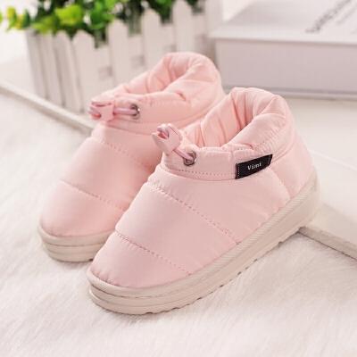 儿童棉拖鞋包跟棉鞋女童男童厚底冬季保暖鞋防水绒毛宝宝小孩童鞋