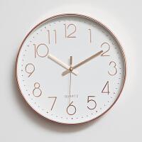 御目 挂钟 卧室客厅静音现代简约挂表装饰创意圆形时钟时尚个性钟表挂件