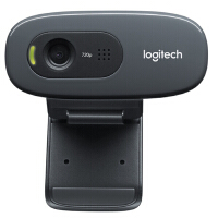 【支持当当礼卡】罗技C270高清网络摄像头 网络课程 远程教育 视频通话 麦克风台式机电脑摄像头