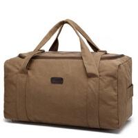 超大容量手提旅行包男士特大号行李包袋子帆布搬家包装被子衣服包 大